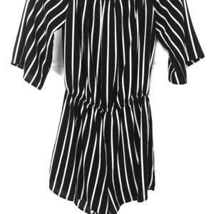 Women's black & White Romper